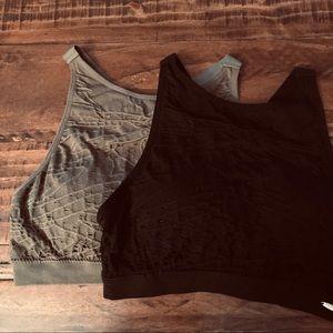 XOXO Sports Bra Bundle Olive/Black Size M